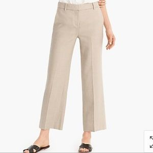 J Crew Linen Wide Leg Cropped pants